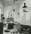 Santiao del Campo en el taller de su casa. Sevilla, 1983