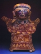 Female Figure with Red Paint - Central Veracruz Culture, Ceramic, Classic
