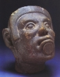 Warrior Head - Aztec, Ceramic, Middle Pre-Classic
