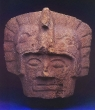 Warrior Head - Maya, Stone, Late Classic