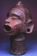 Head of Xipi Totec - Aztec, Ceramic, Late post-Classic