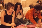 John Lennon, Yoko Ono and Jerry Rubin, New York, 1972